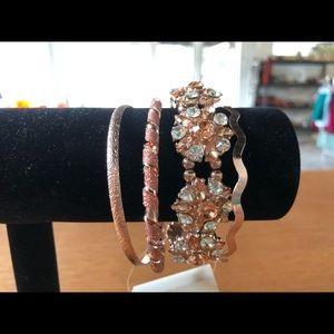 Pink And Silver Bracelet Set NEW